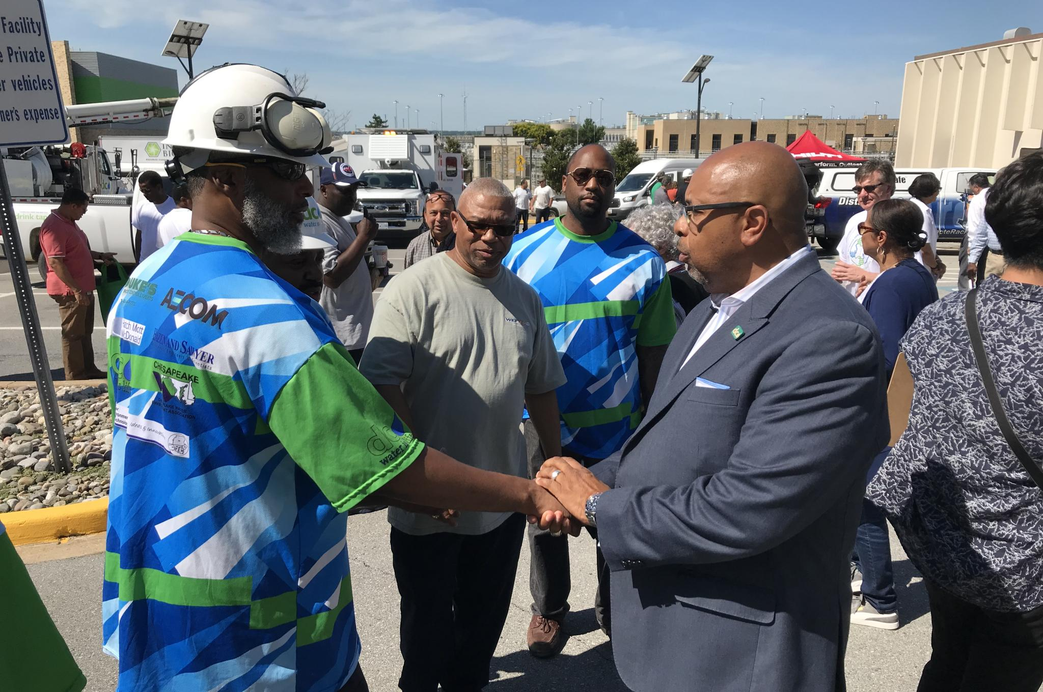 David Gadis meets DC Water employees