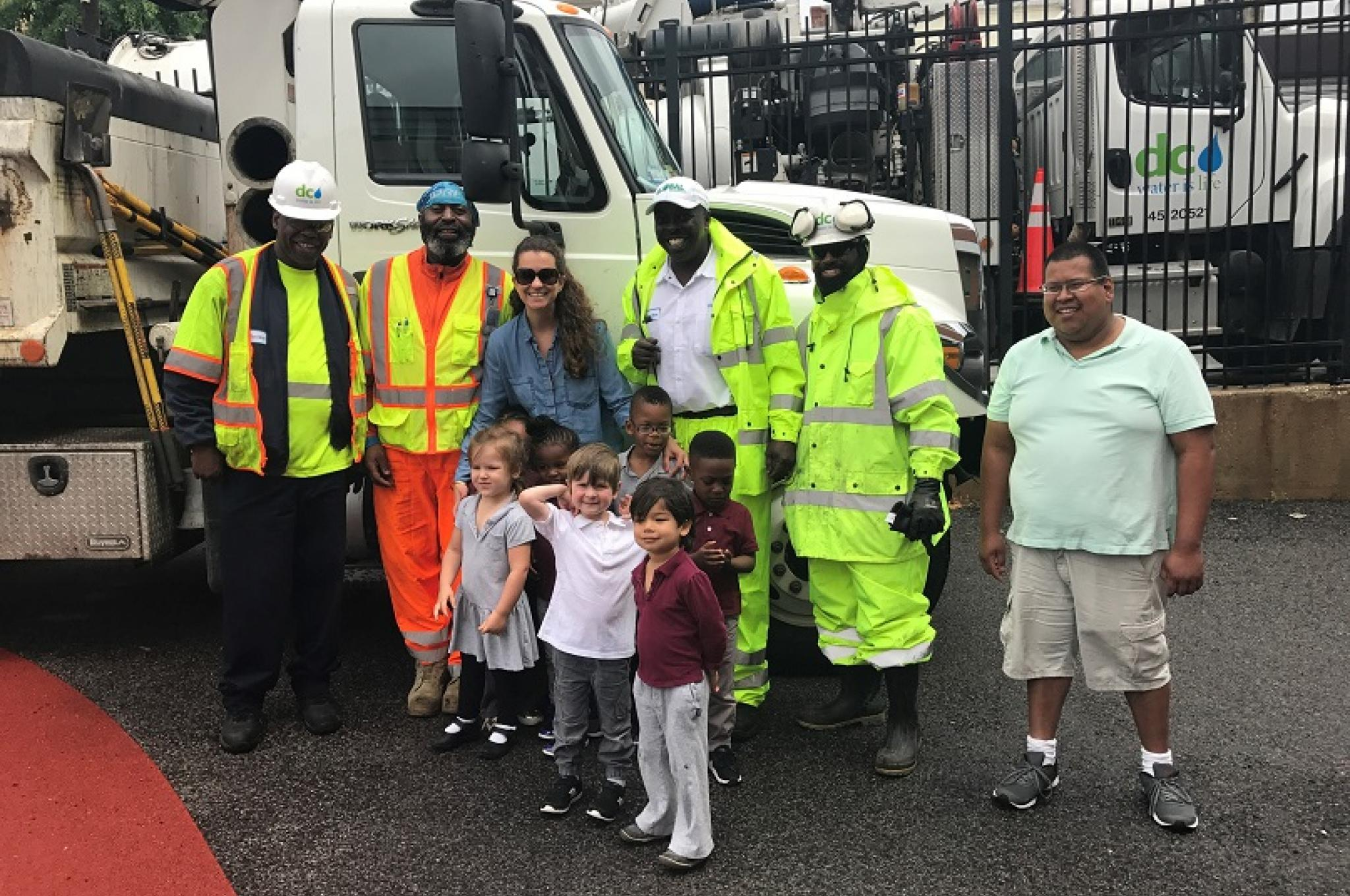 The DC Water Team with J.O. Wilson Students